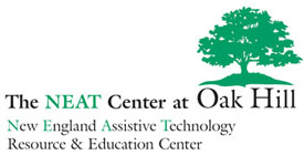 The NEAT Center at Oak Hill New England Assistive Technology Logo